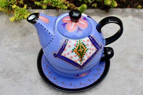 Tetera ceramica dos piezas